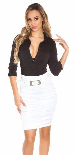 Elegantná sukňa s opaskom | Biela