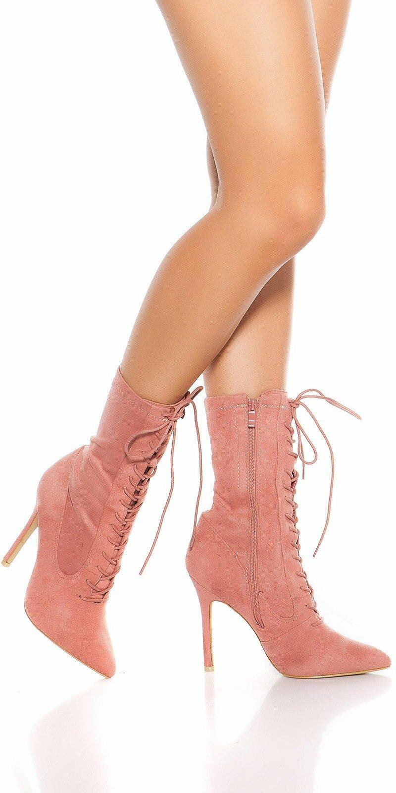 91951c5fd6 Šnurovacie členkové čižmy  Velkosť topánok 39 Farba Bledá ružová