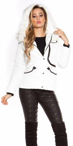 Prešívaná zimná bunda s kapucňou