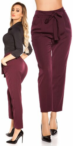 Elegantné nohavice so zvýšeným pásom