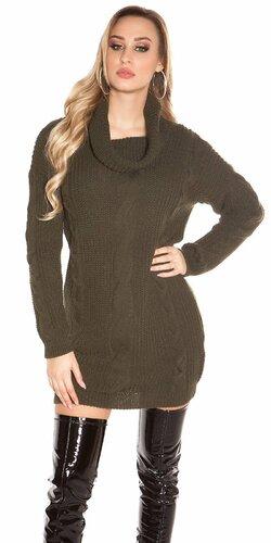 Zimný sveter pletený | Khaky