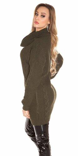 Zimný sveter pletený Khaky