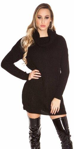 Zimný sveter pletený | Čierna