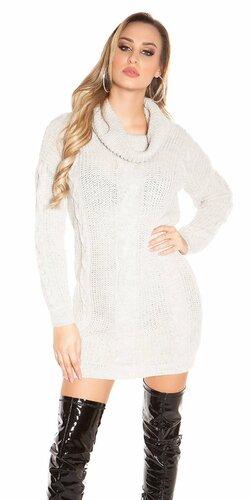 Zimný sveter pletený | Šedá