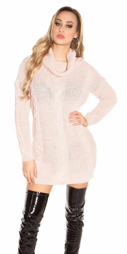 Zimný sveter pletený | Bledá ružová