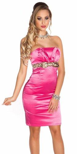 Koktejlové šaty dámske Ružová