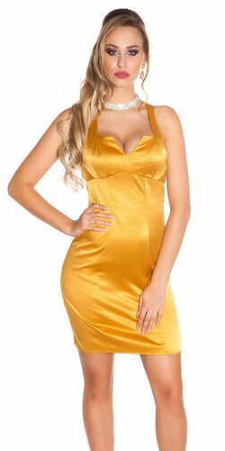 Kokteilové šaty bez rukávov | Zlatá