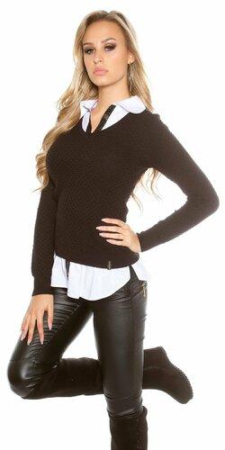 Dámska blúzka/sveter (2v1) KouCla | Čierna