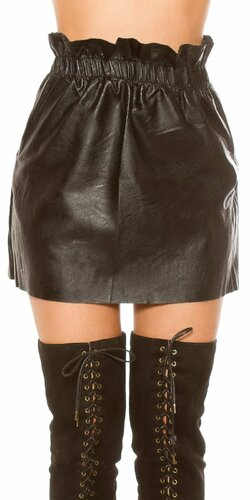 Štýlová čierna mini sukňa užšia v páse