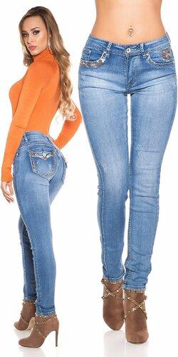 Svetlé skinny džínsy | Modrá