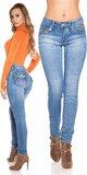 Svetlé skinny džínsy Modrá