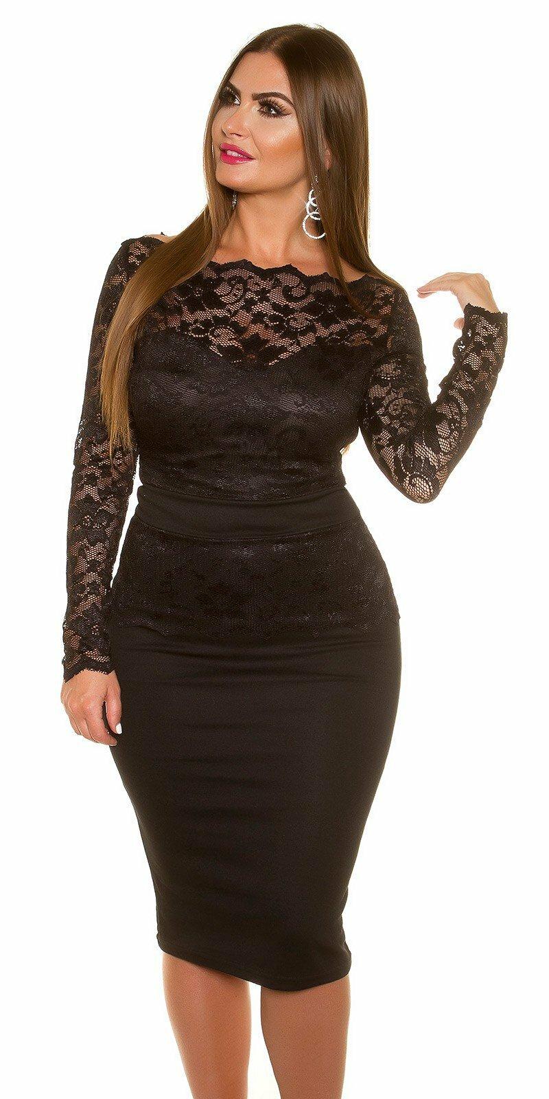 7425b6d22 Dámske čipkované šaty pre moletky KouCla - NajlepsiaModa.sk