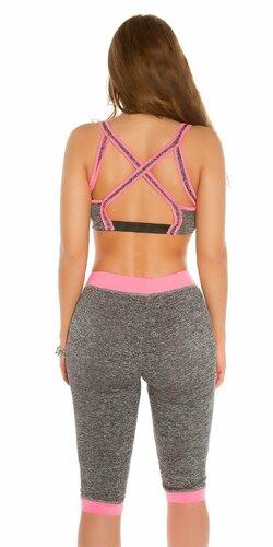 KouCla Workout Outfit Bledá ružová