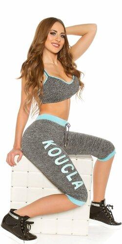 KouCla Workout Outfit Tyrkysová