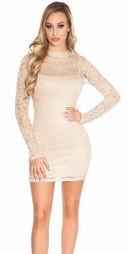 Čipkované šaty s dlhým rukávom