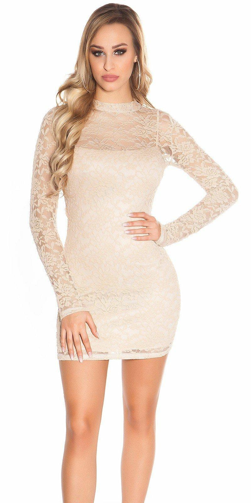 e364c8fdfa Čipkované šaty s dlhým rukávom  Veľkosť Univerzálna (XS S M) Farba