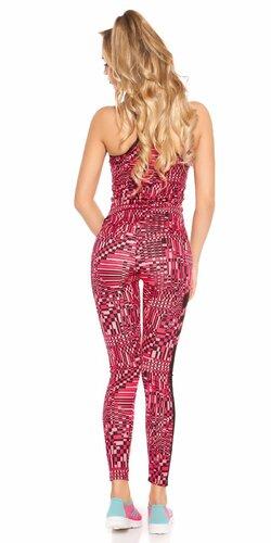 Ružový outfit legíny + top Ružová