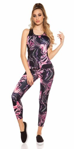 Výrazný športový outfit Ružová