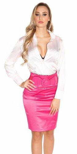 Dámska sukňa s leopardími vzormi s opaskom | Ružová