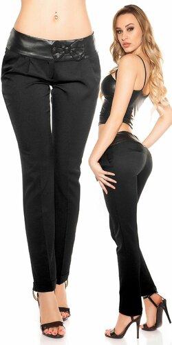 Dámske chino nohavice | Čierna