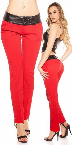 Dámske chino nohavice | Červená