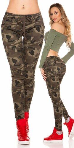Army military look tepláky