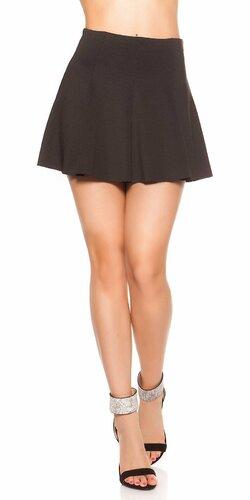 Čierna áčková mini sukňa   Čierna