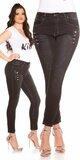Tmavé moletkovské džínsy Čierna