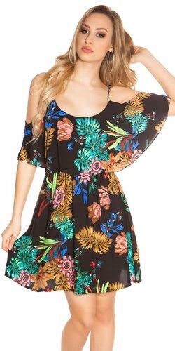 Letné mini šaty Coachella štýl Čierna