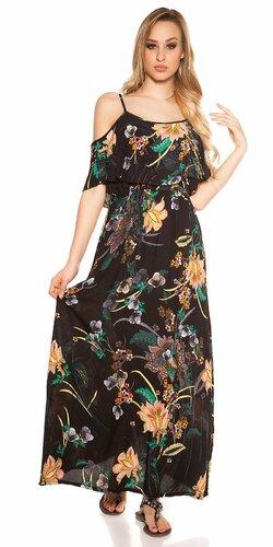 Letné šaty s kvetinovou potlačou