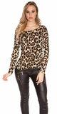 Dámske tričko s krásnou čipkou KouCla Leopard