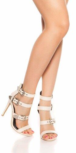 Sandále s remienkami na vysokom podpätku