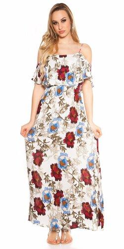 Dlhé kvetinové šaty