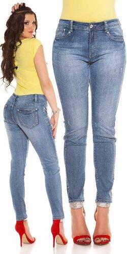 Klasické moletkovské džínsy | Modrá