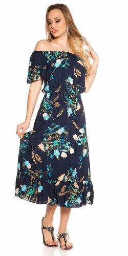 Kvetinové letné midi šaty