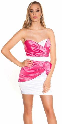 Štýlové dámske koktejlové šaty | Ružová