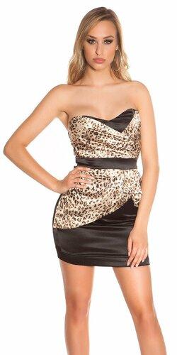 Štýlové dámske koktejlové šaty | Leopard