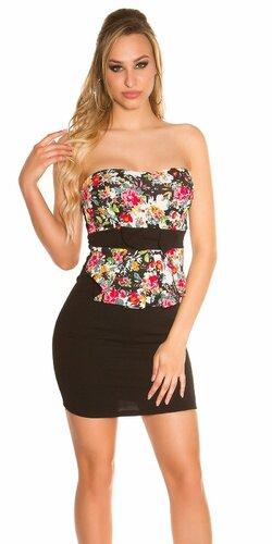 Mini šaty s kvetinovým vzorom