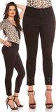 Čierne džínsy s výšivkami Čierna
