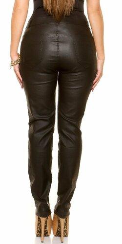 Kožené nohavice pre moletky Čierna