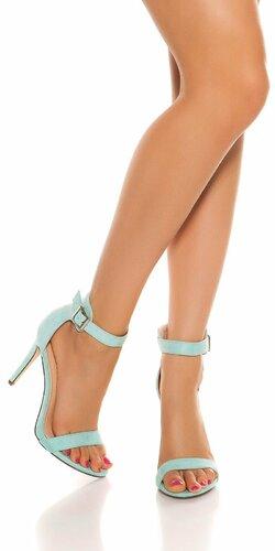 Sandále s remienkom na vysokom podpätku | Mintová