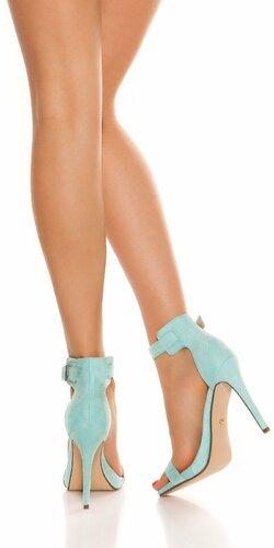 Sandále s remienkom na vysokom podpätku Mintová