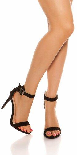 Krásne letné sandálky Čierna