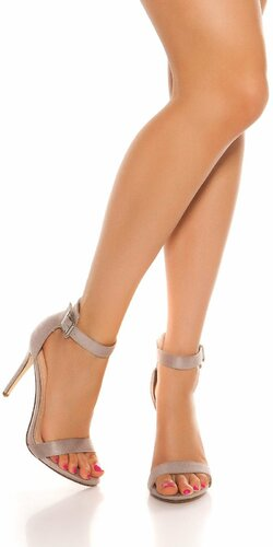 Krásne letné sandálky Šedá