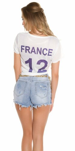 Worldcup tričko FRANCE Biela