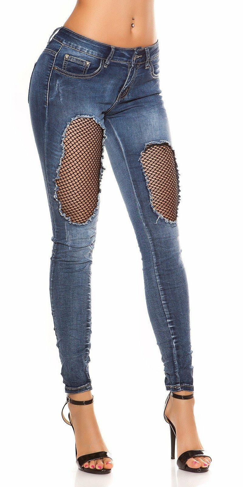 f4b31d216f99 Tmavé džínsy s dierami - NajlepsiaModa.sk