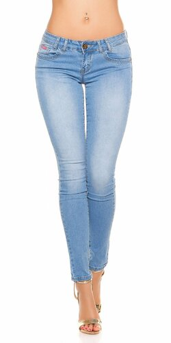 Svetlé džínsy s krídlami Modrá