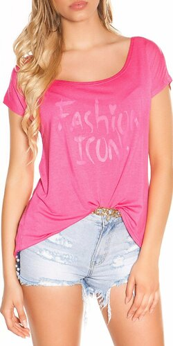 Letné tričko FASHION ICONS | Ružová