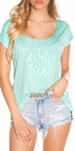 Letné tričko FASHION ICONS | Mintová