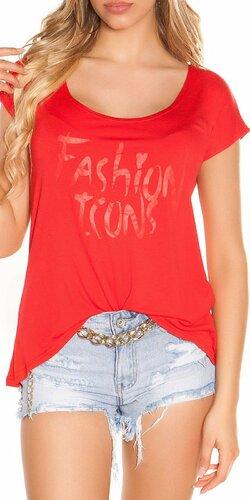 Letné tričko FASHION ICONS | Červená